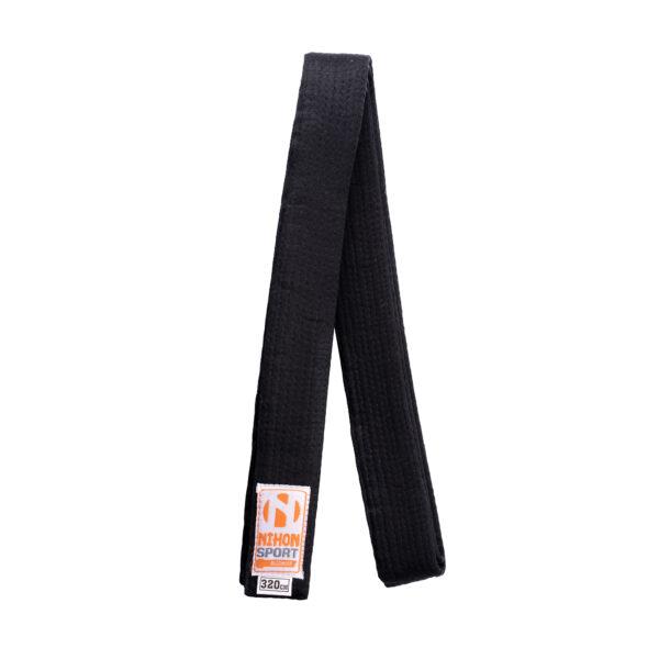 Zwarte band voor budo Nihon | zware kwaliteit