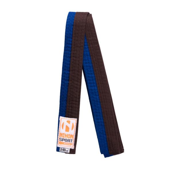 Tweekleurige judo- en karatebanden Nihon | blauw-bruin | 260