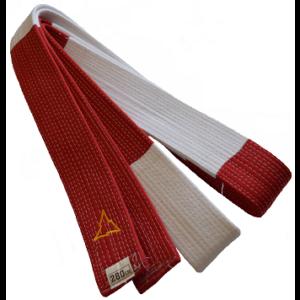 Rood-witte judoband voor 6e dan Nihon | extra stevig