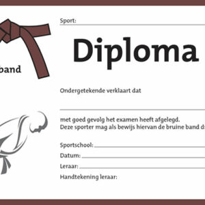 Diploma Bruin