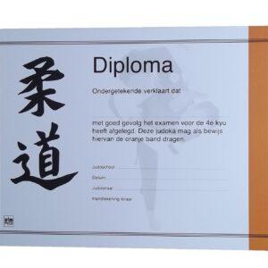 Diploma Judo Oranje Band