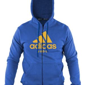 Adidas-hoody met rits | blauw-oranje
