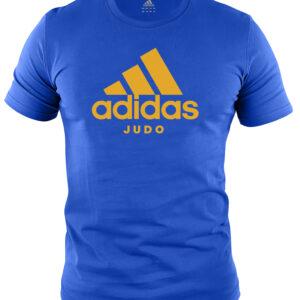 Adidas judo T-shirt | blauw met oranje opdruk