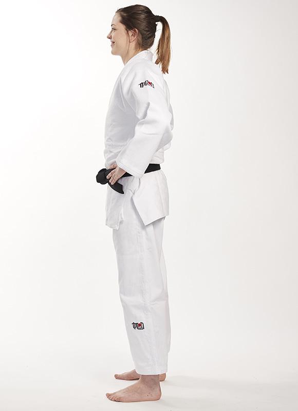 witte slimfit judojas voor de jeugd