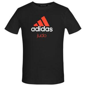 Adidas judo T-shirt | zwart-oranje | MET KORTING