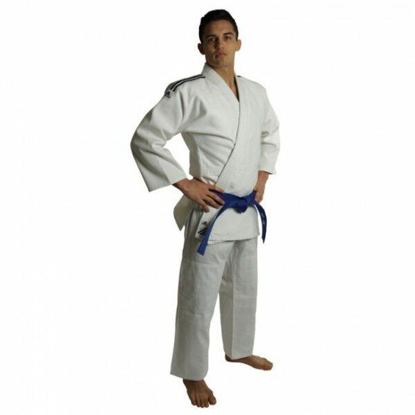 Judopak Adidas voor tieners en recreanten   J500   wit