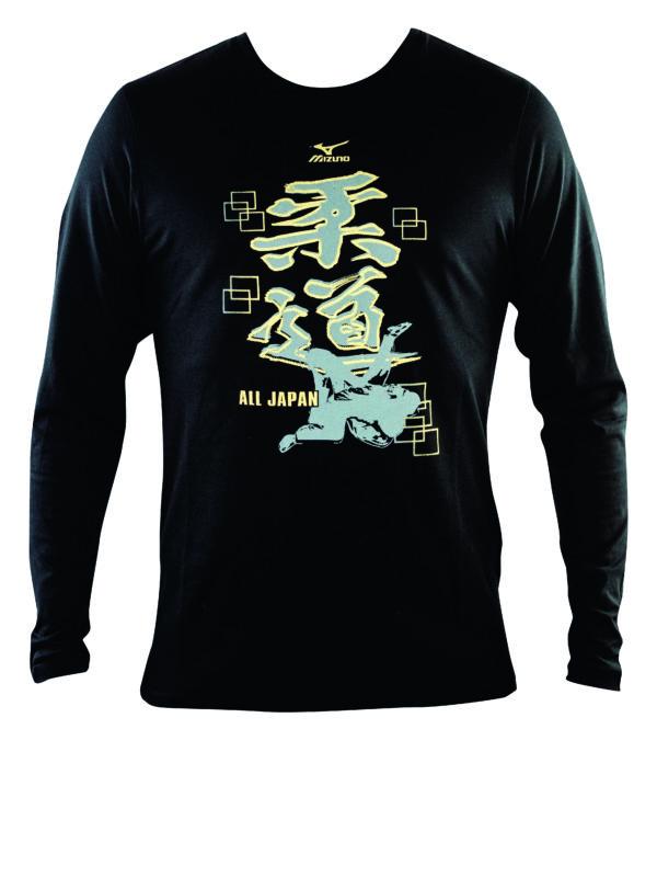 Mizuno Judo T-shirt lange mouw zwart