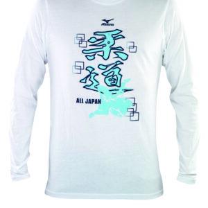Mizuno Judo T-shirt lange mouw kids wit