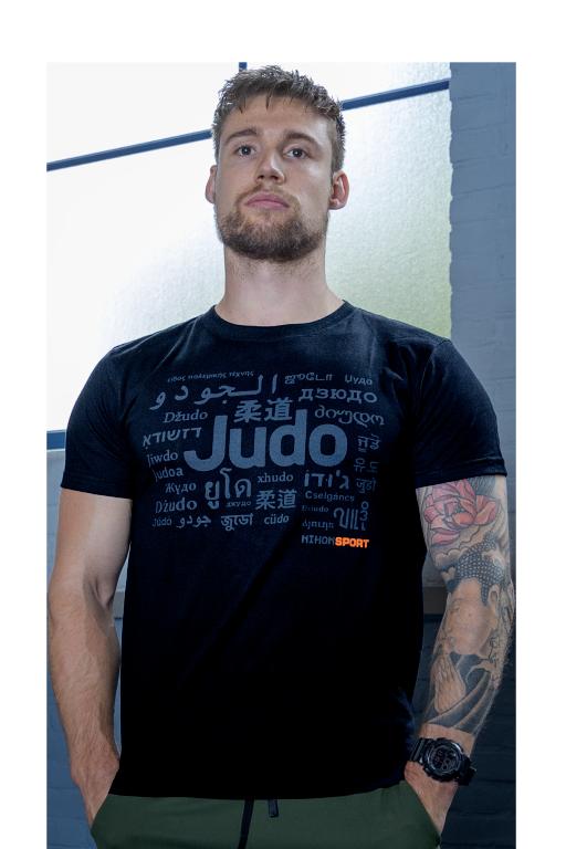 T-shirt Nihon Judo   zwart